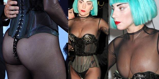 Gaga verliert Kleid, lässt Busen blitzen