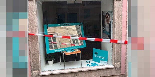 Kurz: Wahl-Büro zerstört