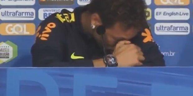 Kurios: Darum weinte Neymar live im TV