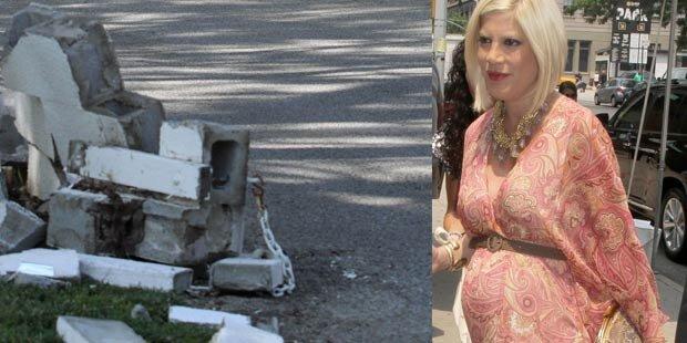 Schwangere Tori Spelling hatte Unfall