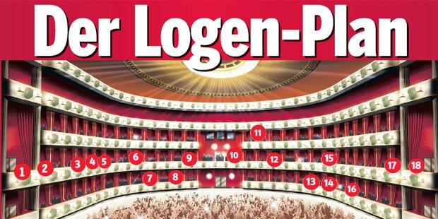 Der Logen-Plan des Opernballs 2018