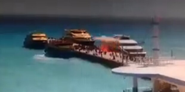 Jacht explodiert: 18 Schwerverletzte
