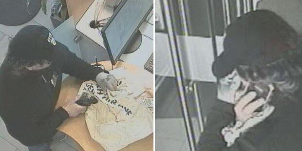 Polizei sucht diesen bewaffneten Bankräuber