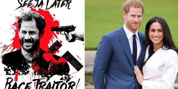 Schock-Bild: Britische Nazis drohen Prinz Harry