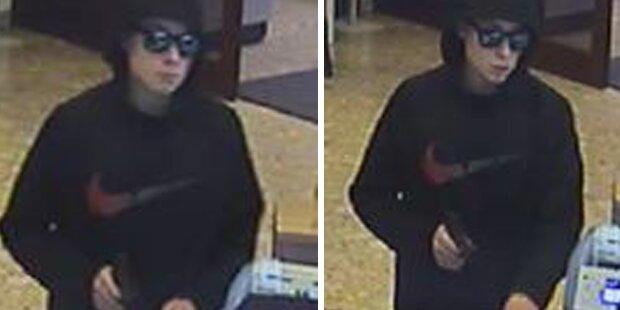 Bewaffneter Bank-Raub: Polizei sucht diesen Täter