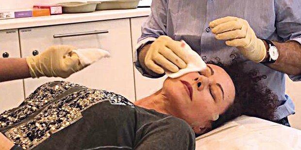 Eingriff: Mausi hat jetzt Gold im Gesicht