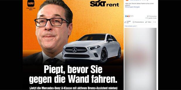 So verspottet Mietwagen-Firma Sixt Strache