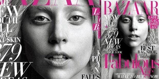 Gaga lässt in Harper's Bazaar Maske fallen