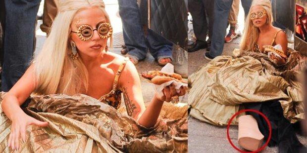 Lady Gaga: Sturz aus luftiger Höhe
