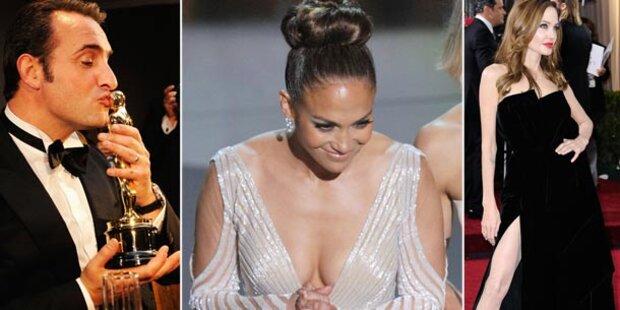 Oscar-Aufreger: JLo zeigt Busen, Jolie Bein