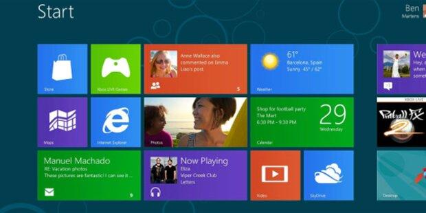 Windows 8 Preview: Eine Million Downloads