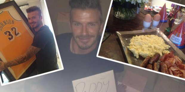 Beckhams schönstes Geburtstags-Geschenk