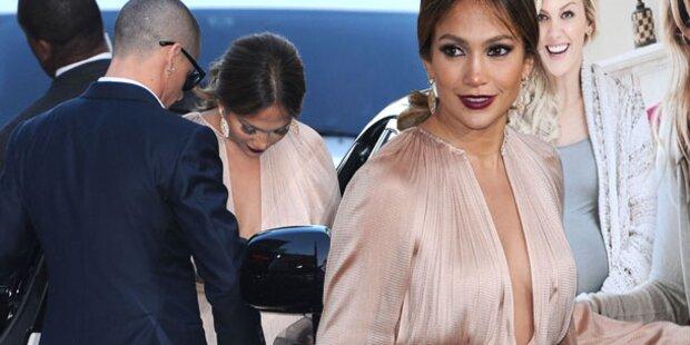 Lopez feiert mit Dekolleté und Lover