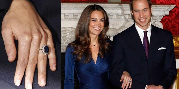 Kate Middleton trägt Dianas Verlobungring