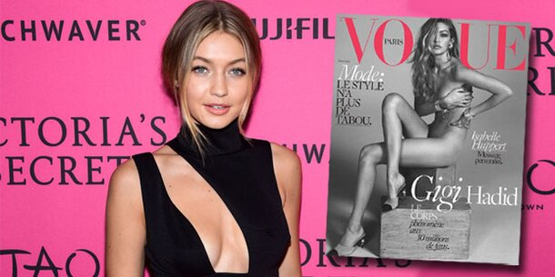 Gigi Hadid: Nackt auf Vogue-Cover