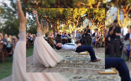 Magische Tänzer: Brautpaar versetzt Welt in Staunen
