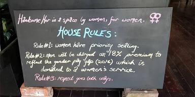 In diesem Cafe werden Männer offiziell diskriminiert
