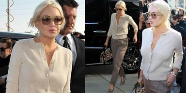 Lindsay Lohan stilsicher vor Gericht