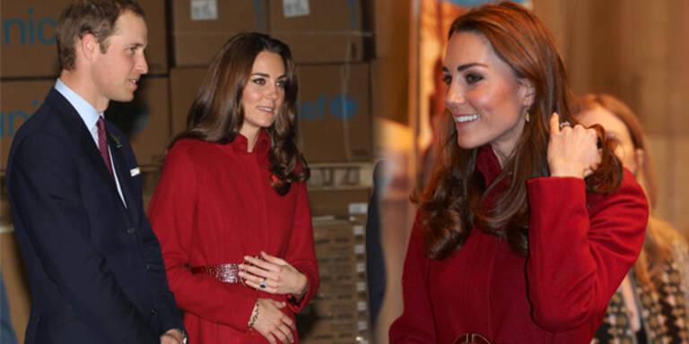 Versteckt Kate ihren Babybauch?