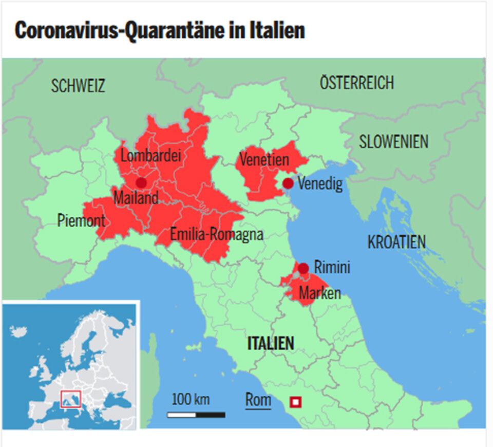 Coronavirus Diese Regionen In Italien Sind Gesperrt