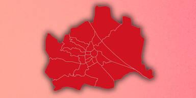 Die Ergebnis-Karte: So hat Wien gewählt
