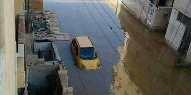 ISIS setzt Hauptstadt unter Wasser