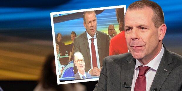 EU-Duelle: Vilimsky provoziert ÖVP mit Karas-Papp-Aufsteller