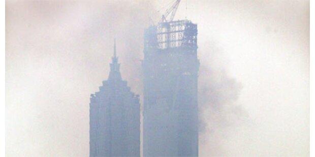 Brand im höchsten Gebäude in Shanghai