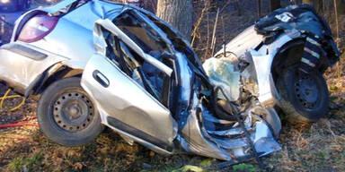 Pkw-Lenker (23) stirbt nach Crash mit Baum
