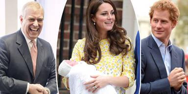 Herzogin Kate, Prinz William, Prinz Andrew