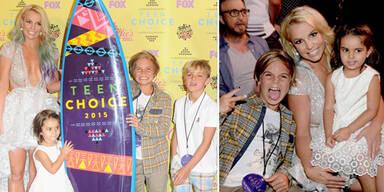 Britney Spears mit Kindern & Nichte bei Teen Choice Awards
