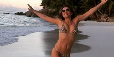 Liz Hurley im Bikini