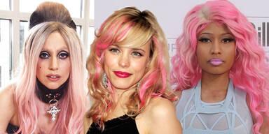 Pinke Haare der Stars