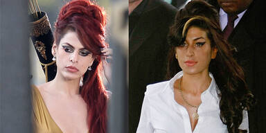 Eva Mendes im Amy Winehouse-Look