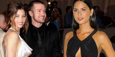 Justin Timberlake & Jessica Biel, Olivia Munn