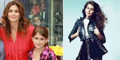 Cindy Crawfords Tochter modelt für Versace