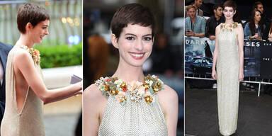 Anne Hathaways Gucci-Robe am roten Teppich