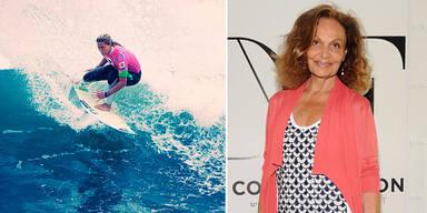 Diane von Fürstenberg designt Beachwear für Roxy