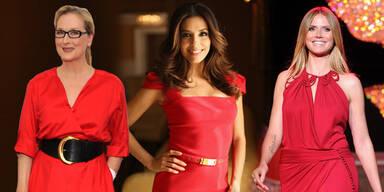 Frauen die Rot tragen sind erfolgreicher