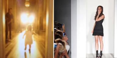 Harper Beckham auf dem Laufsteg