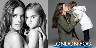 Alessandra Ambrosio shootet mit Tochter