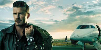 David Beckham reist nur noch mit Breitling