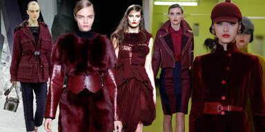 Trendfarbe: Burgund