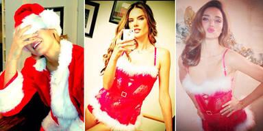 Sexy Weihnachtsgrüße von den Topmodels