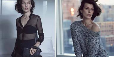 Milla Jovovich verwirrt  mit ihrer Model-Mimik