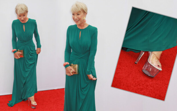 Helen Mirrens Styling-Tipp: Stripper-Heels!