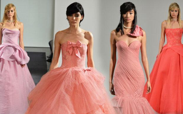 Braut trägt jetzt rosarot & pink