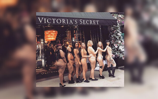 Nackt-Proteste vor Victoria's Secret
