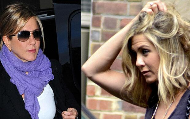 Jennifer Aniston wegen Haarproblemen beim Friseur