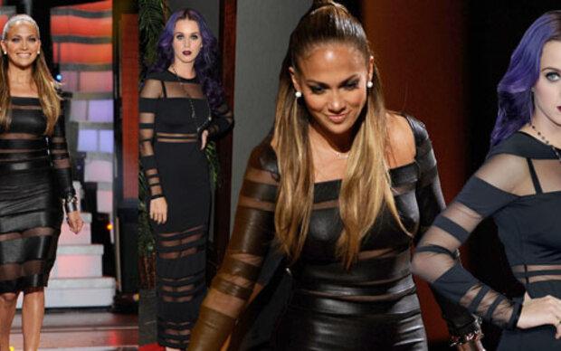 Katy Perry vs. J. Lo in schwarzer Transparenz